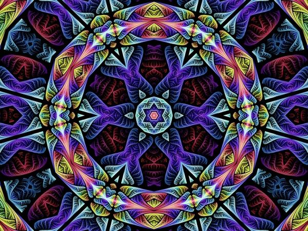 rainbow fractal circles at whitegadget.com